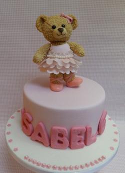 Edible Bear Birthday Cake Topper