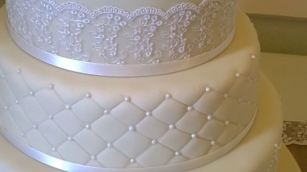 Designer Cake with Lace & Detail