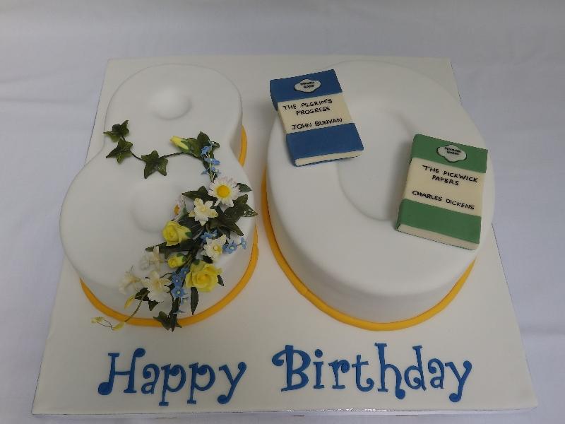 80th Birthday Cake Personalised