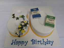80th Birthday Cake Personalised