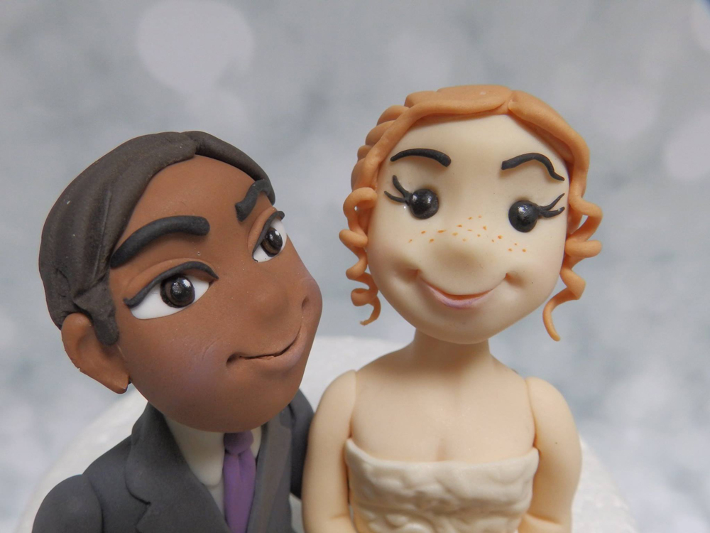 Realistic Wedding Cake Toppers