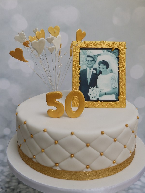 Anniversary Cake with Edible Photo