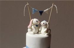 Rabbit wedding pair
