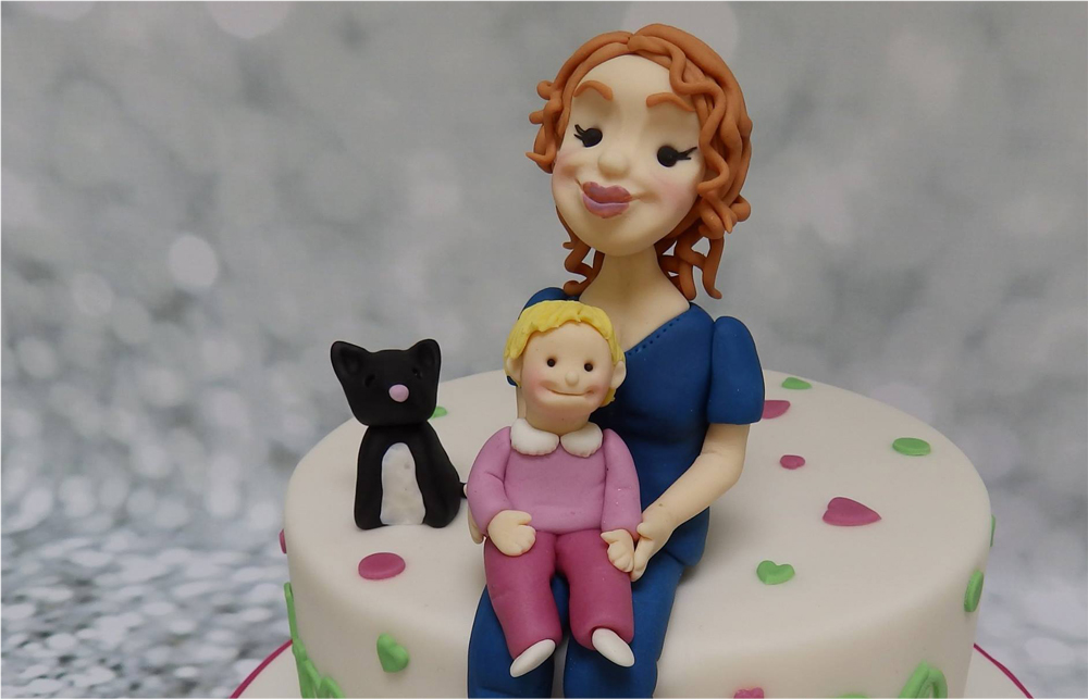 Personalised Mother & Child Cake