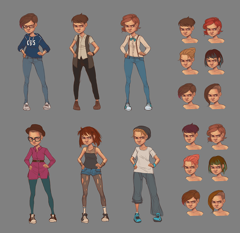 Main Character (Lisa) Concepts