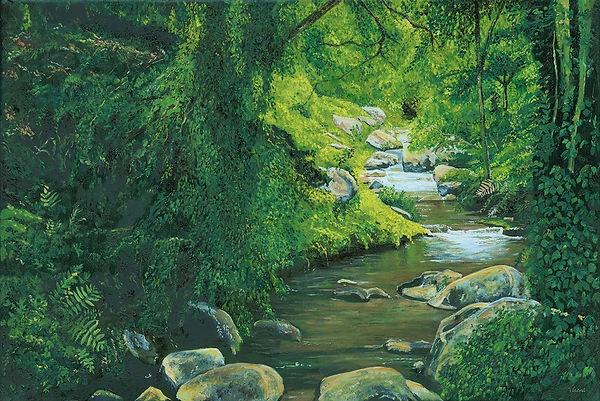 Vincent Smith Art - Summer Waterfall.jpg