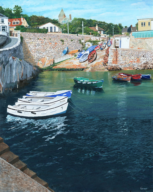 Vincent Smith Art - Coliemore Harbour 4.