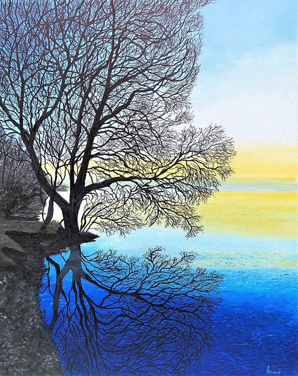 Vincent Smith Art - Sunset of Lake Garad