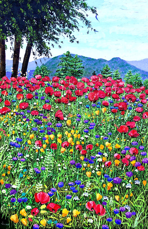 Vincent Smith Art - Mountain Wildflowers