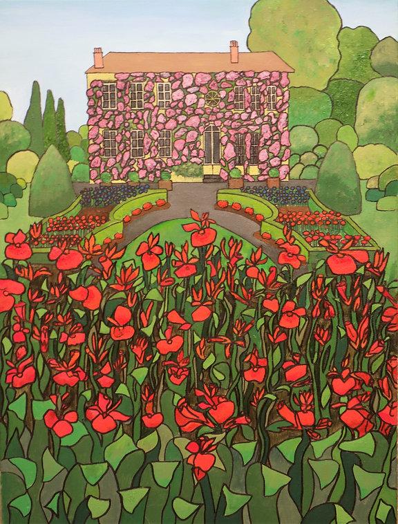 Vincent Smith Art - Canna Lily Garden