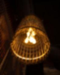 Close up of light fixture