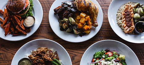 plates of food at Bushfire Kitchen