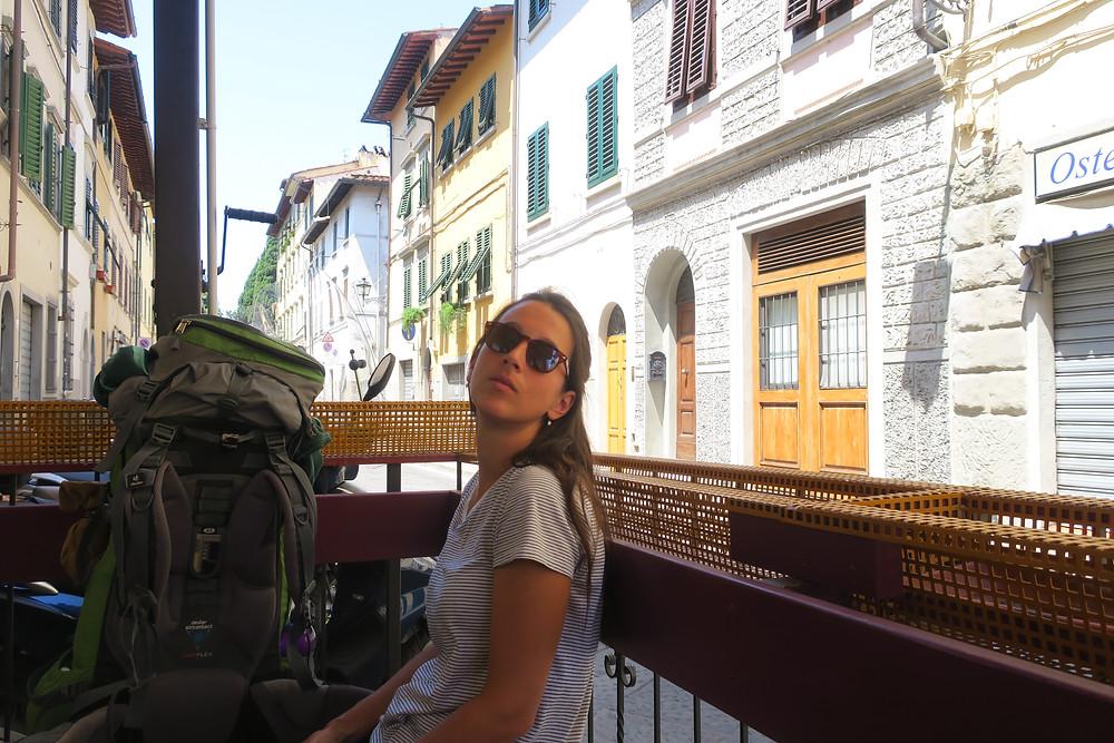 in einer Strasse in Florenz