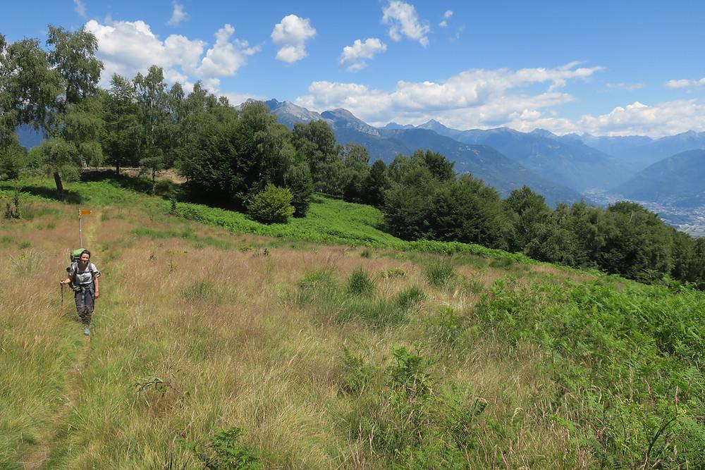 Aufstieg zum Monte Tamaro