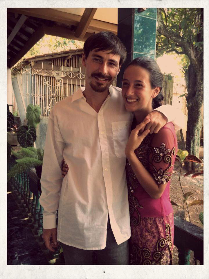Wir sind Gäste auf einer indonesischen Hochzeit in Bandung auf Java