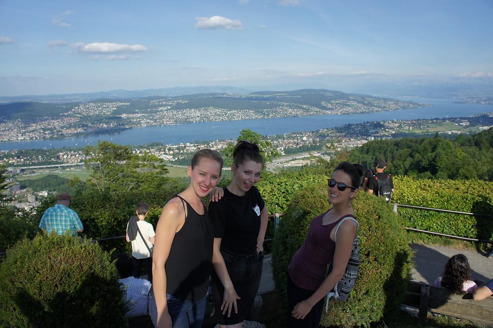 Blick auf Zürichsee vom Ütliberg