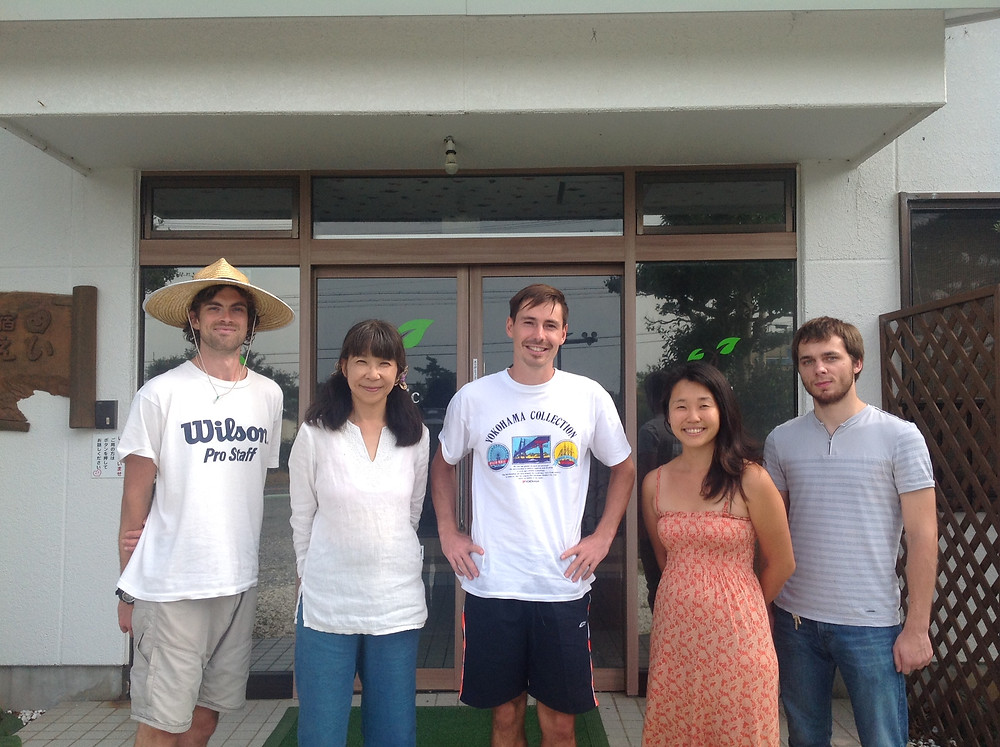 Team des organic Farm/ Bed and Breakfast Unterkunft in Japan