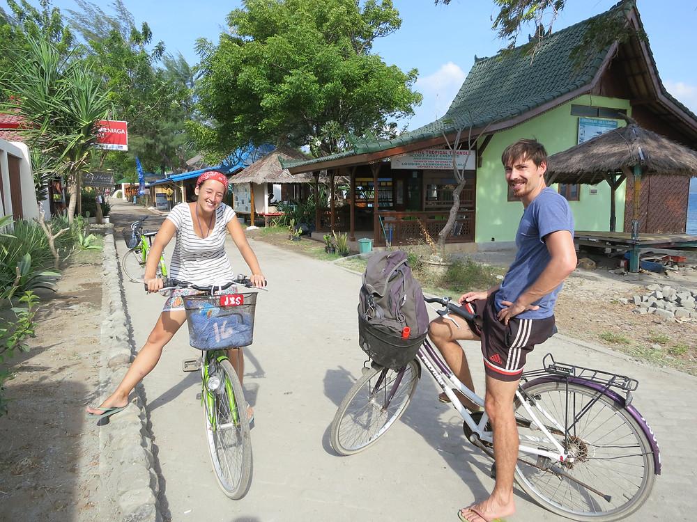 auf den Gili Islands gibt es keine Autos oder Motorräder. Hier nutzt man Fahrräder