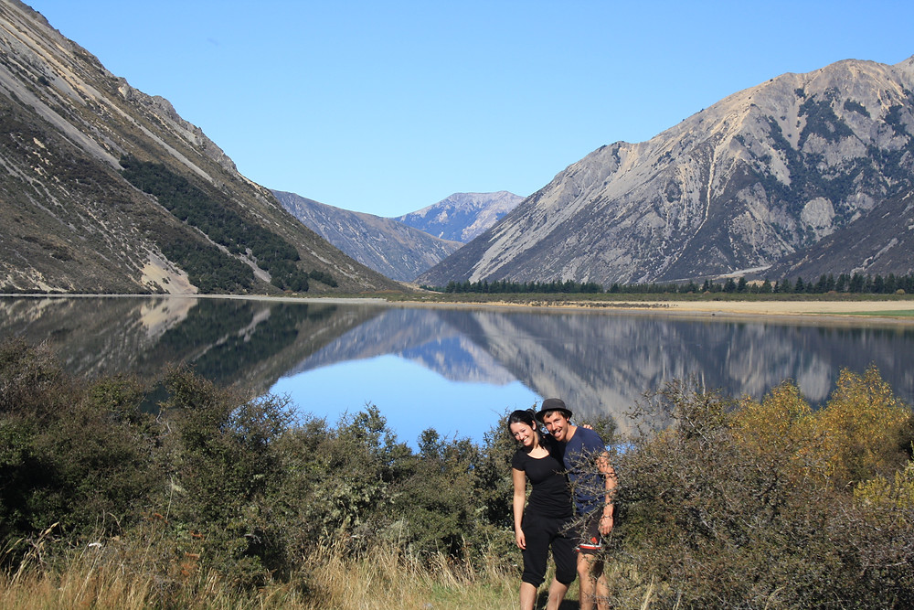 Erik und Resi Arthurs Pass in Neuseeland