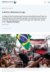 20191111_Lula free, Bolsonaro in rage _