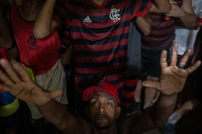 "Flamengo verses Liverpool during the final match of FIFA Club World Cup at the fan club ""Raça Rubro-Negra"" headquarters in Rio de Janeiro, December 21, 2019"