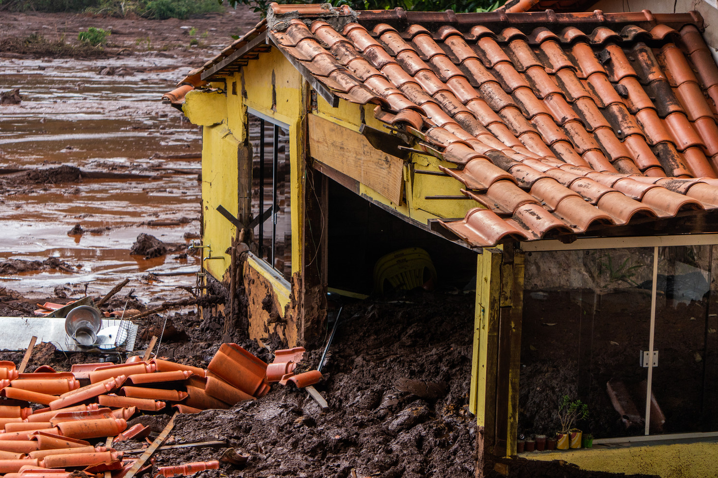 The worst social environmental tragedy of Brazilian history was the mining dam collapse from Vale S.A. (the world's largest iron ore producer) that pouredits mud on the residents of Brumadinho andalso killedthe Rio Paraopeba,January 24, 2019. These photographs are the registersof ten consecutive days in the regions affected by the disaster (01/26 to 02/02 of 2019).