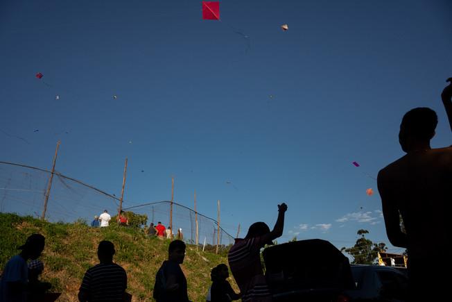 Kite Championship amid coronavirus disease (COVID-19) outbreak in Favelinha L.G, a slum located on the west zone of Sao Paulo capital, Brazil, July 5, 2020.