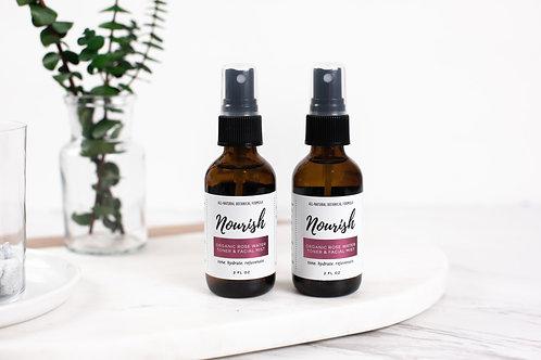 Organic Rose Water Toner & Facial Mist