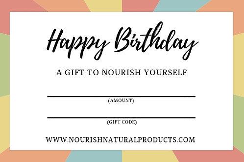 Nourish Gift Certificate