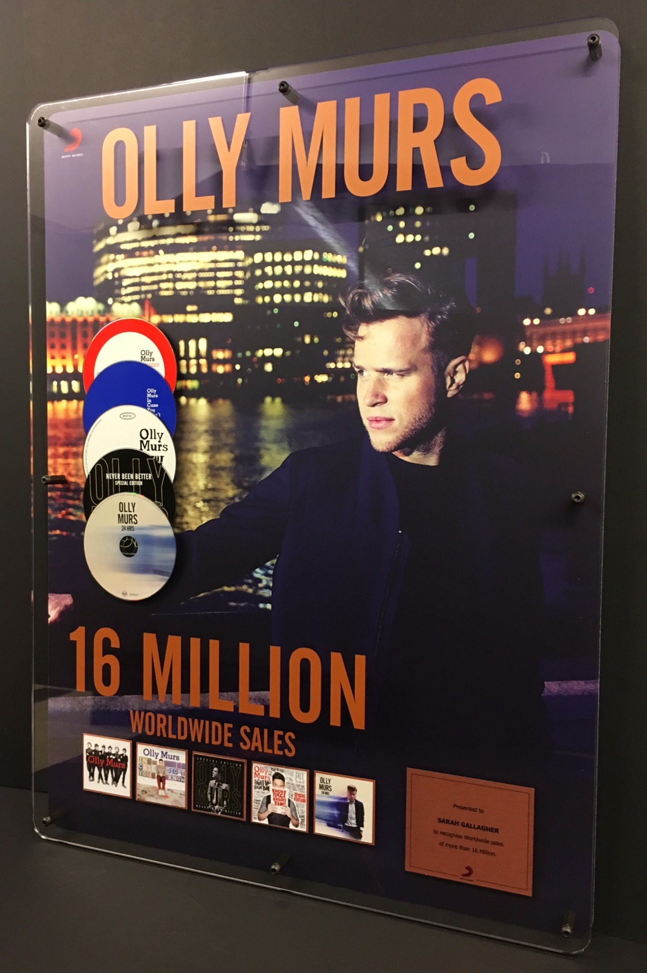 Olly Murs 600x800mm Acrylic