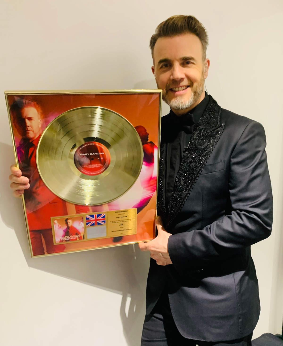 Gary Barlow Gold BRIT Disc Award - Music