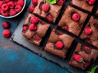Brownies con Shake Me y frambuesa
