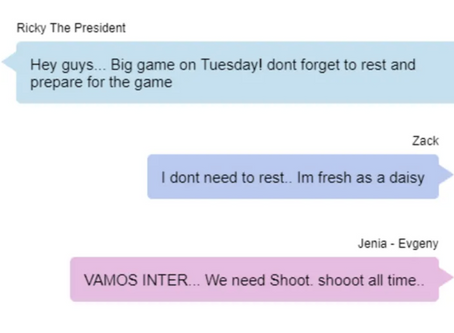 LEAKED: The Whatsapp Conversation of Inter Aliyah Before Tuesday's Massive Game
