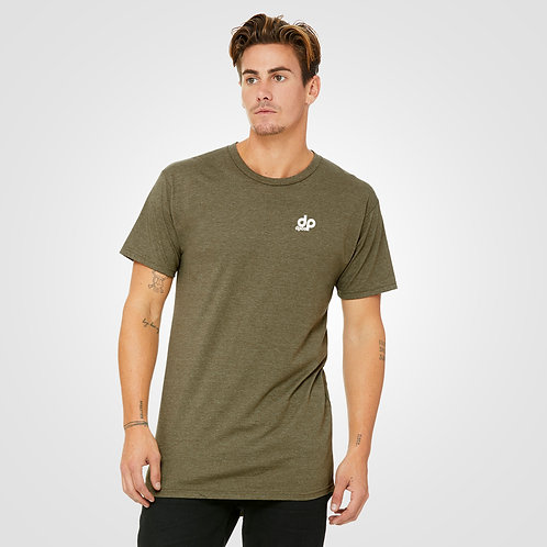 dpoe Heather Olive T-Shirt Front View