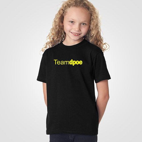 dpoe Black Youth Girl T-Shirt Front View