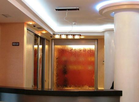 Ściana wodna w salonie,biuro, restauracji