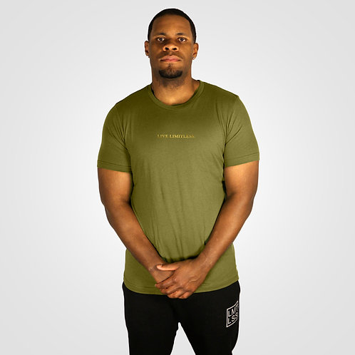 dpoe Olive T-Shirt Front View