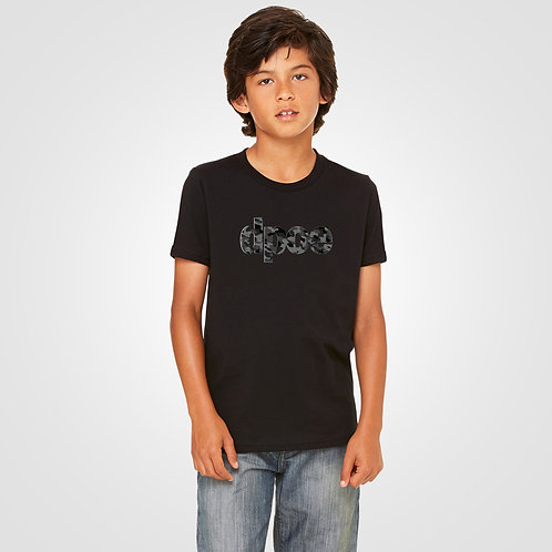 dpoe Black Youth Boys T-Shirt Front View