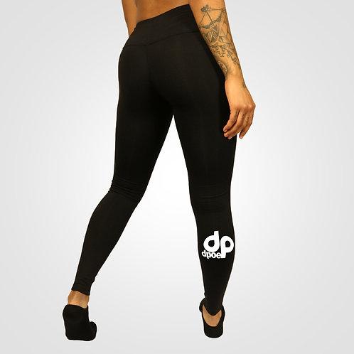 dpoe Black Fitness Leggings Pants Side View