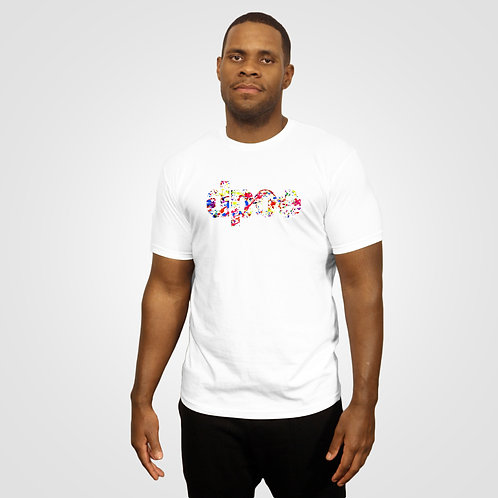 dpoe White T-Shirt Front View