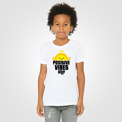 dpoe White Youth Boys T-Shirt Front View