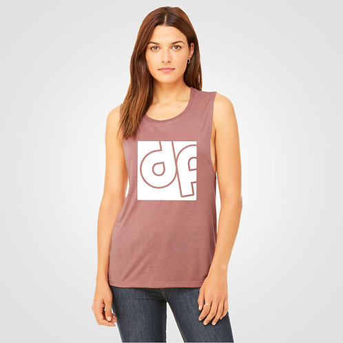 dpoe Mauve Muscle Tank Top Front View
