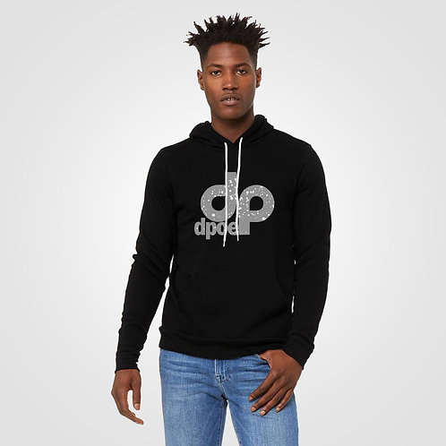 dpoe Black Pullover Hoodie Front View