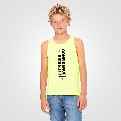 dpoe Neon Yellow Youth Boys Tank Front View