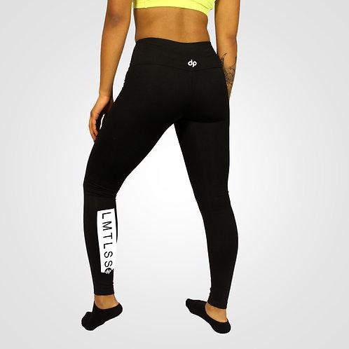 dpoe Black Fitness Leggings Pants Back View