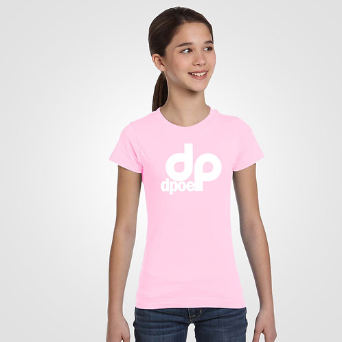 dpoe Pink Youth T-Shirt Front View