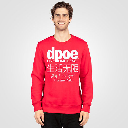 dpoe Red Crewneck Sweater Front View