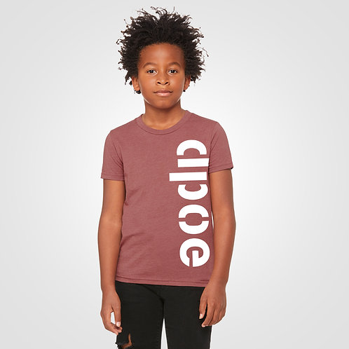 dpoe Mauve Youth Boys T-Shirt Front View
