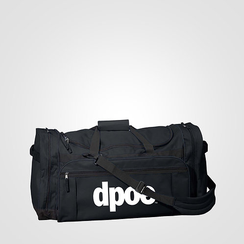 dpoe Black Large Duffel Bag Front View