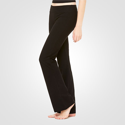 dpoe Black Fitness Pants Side View